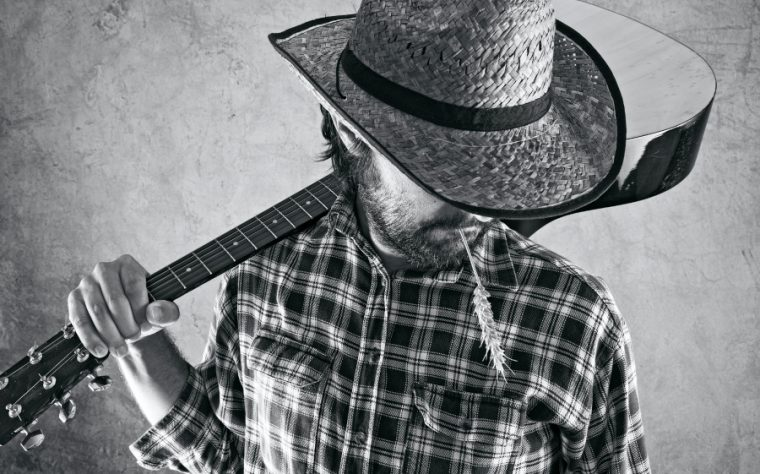 Cow-boy avec guitare